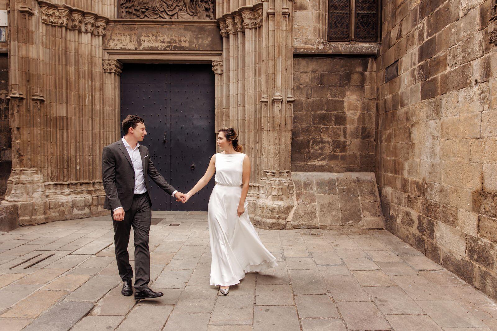 Свадебная прогулка по Барселоне