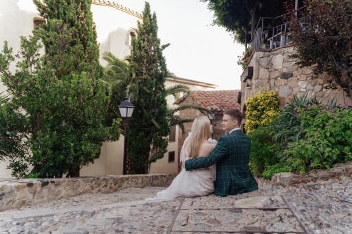 Свадебная фотосессия в Тосса де Мар