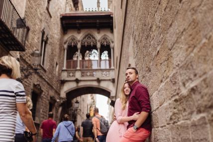Фотосессия экспресс в готическом квартале Барселоны